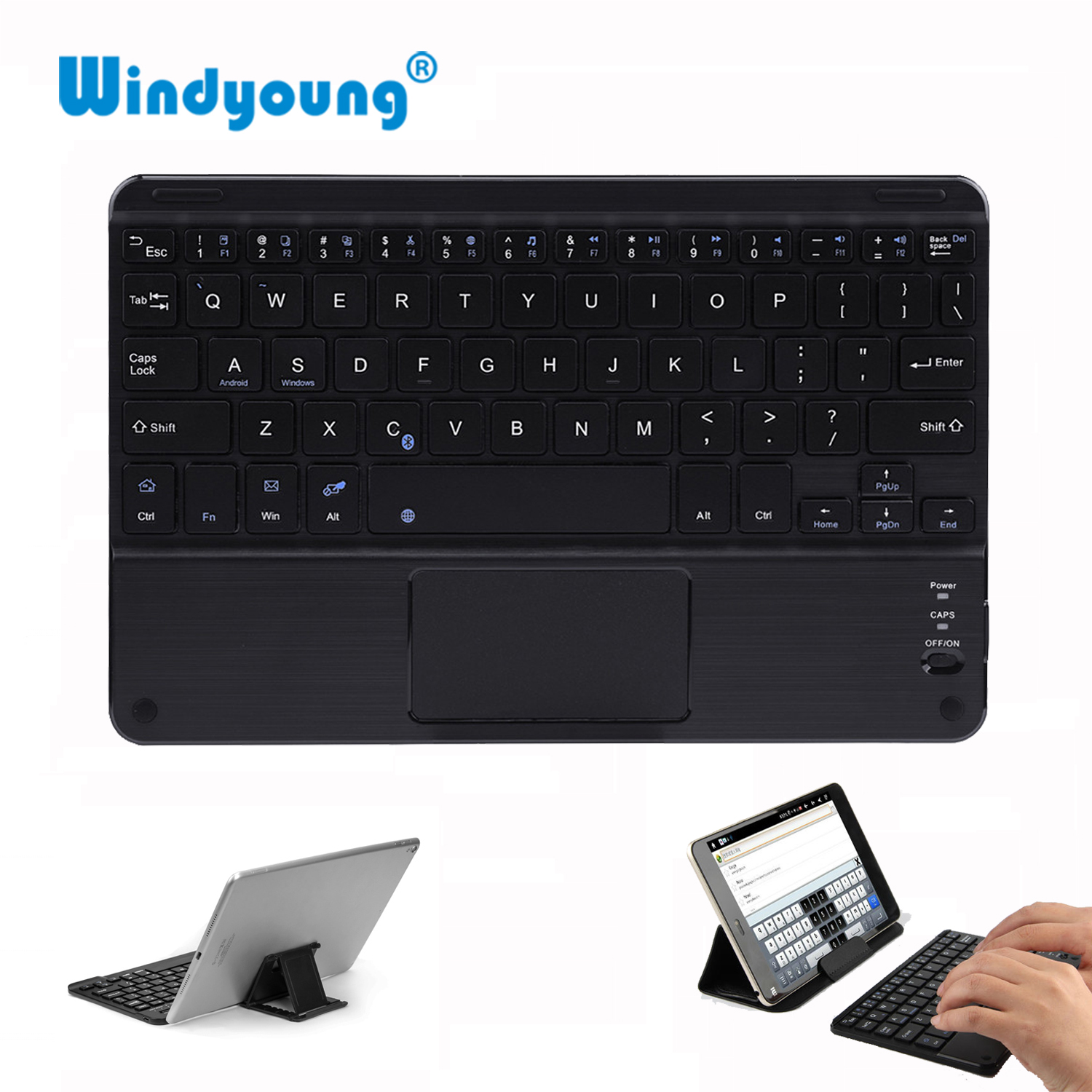 Touch Wireless Bluetooth Keyboard For Android Tablet PC Laptop Universal Portable Mini Wireless Bluetooth Keyboard With Touchpad