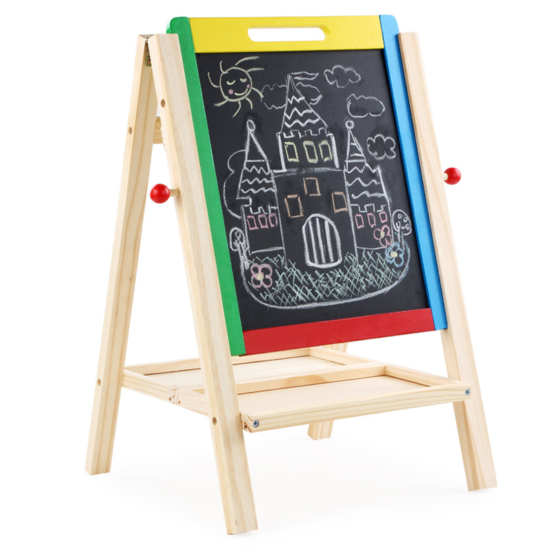 New Style Adjustable Foldable CHILDREN'S Drawing Board Easel Double-Sided Magnetic Small Blackboard Household Braced Doing Homew