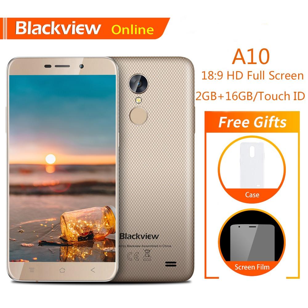 Фото. Blackview A10 Оригинал 5,0 дюйм мобильный телефон HD 18:9 2 ГБ + 16 GB Android 7,0 4 ядра отпеч