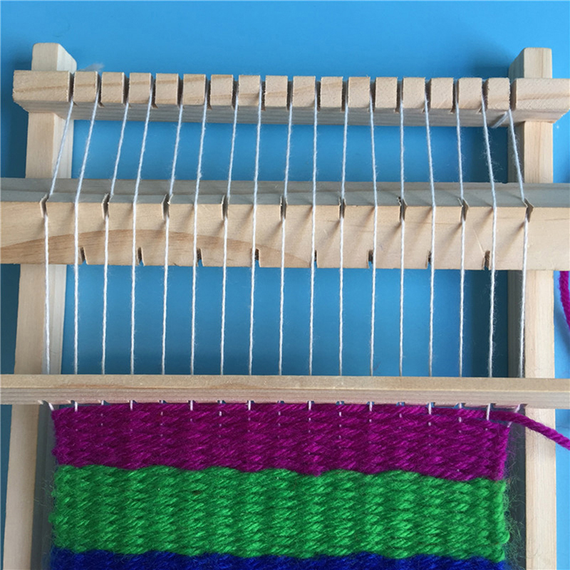 DIY Traditional Wooden Weaving Loom Craft Yarn Hand Knitting Machine Kids Educational Toy Gifts