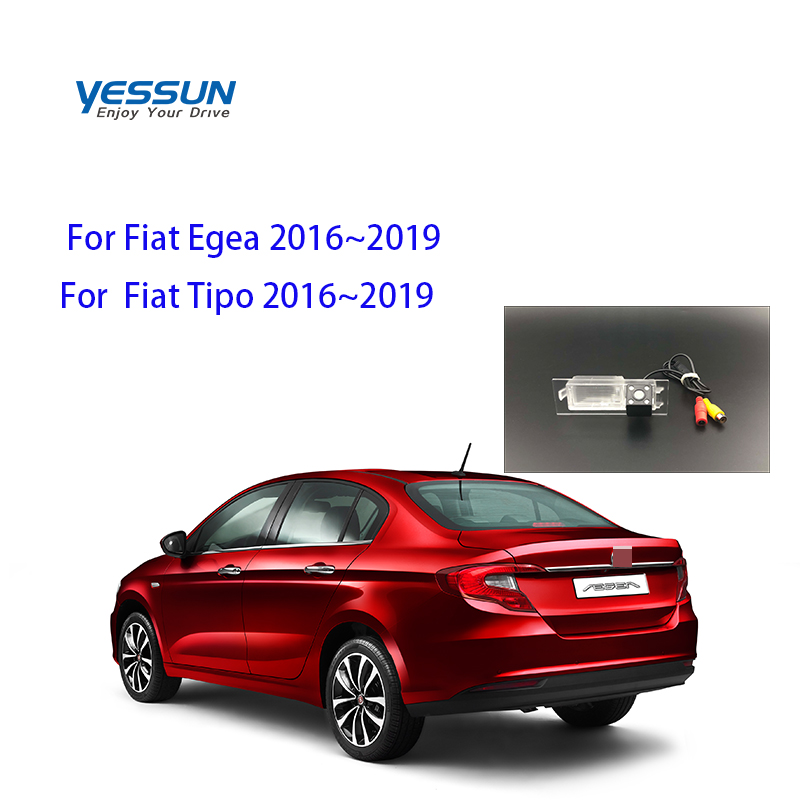 Yessun License Plate Camera For Fiat Tipo 2016~2019 Car Rear View Camera Parking Assistance