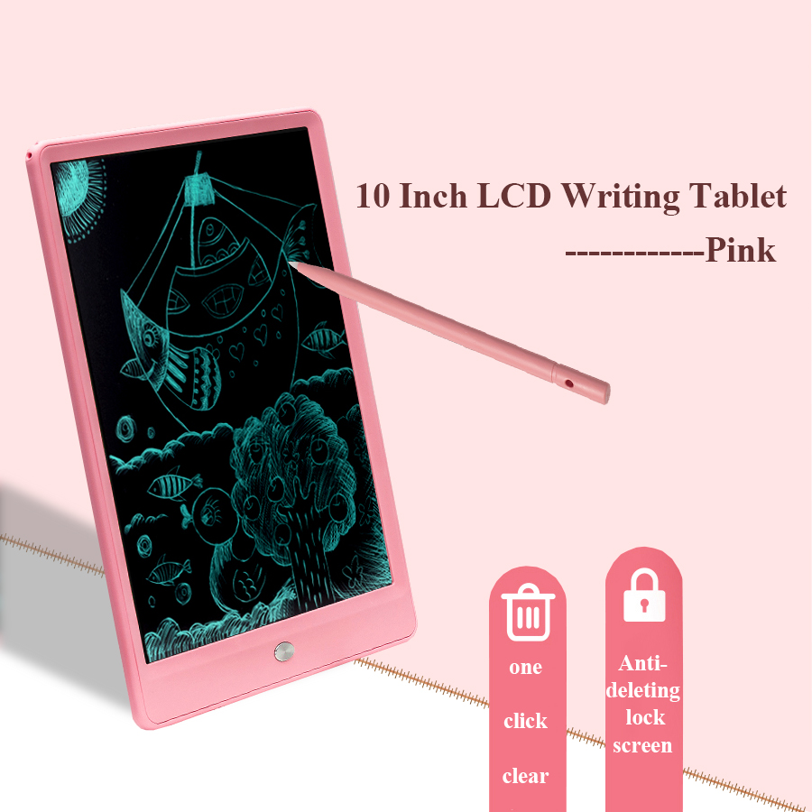 10 ''Lcd Schrijven Tablet Board Kinderen Schrijven Pad Tekening Schilderen Grafische Board Gift Kind Creativiteit Verbeelding Kind Gift|Digitale Tafels|   -