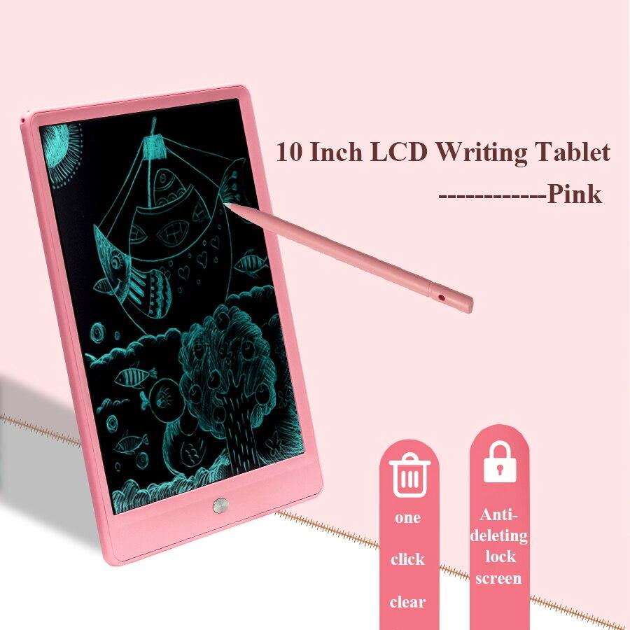 Tableta de escritura LCD de 10 pulgadas para niños, pizarra gráfica para dibujar, regalo, creatividad, regalo para niños