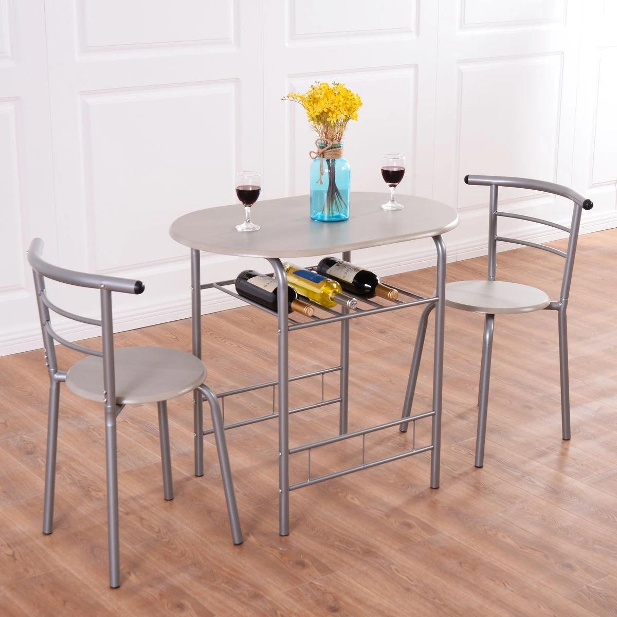 Costway 9 Piece Dining Set Table 9 Chairs Bistro Pub Home Kitchen Breakfast  Furniture