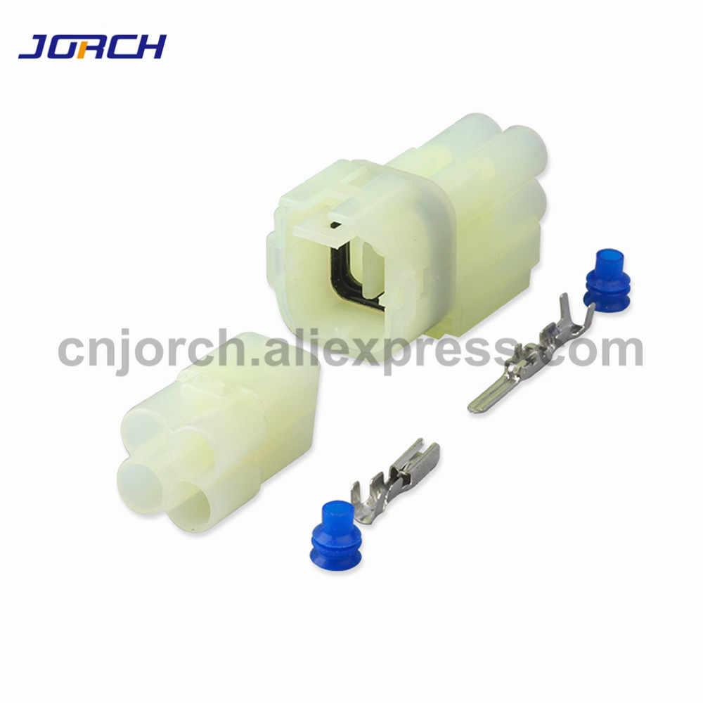 CNKF 10 Sets Sumitomo 2pin gray waterproof auto electrical male and female Yazaki connector includes terminals and seals