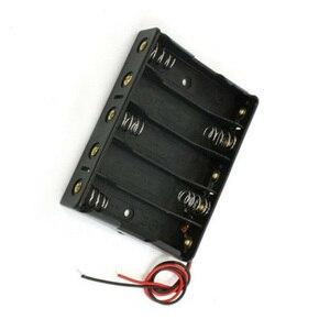 Image 3 - 5x AA Batterie Boîte Porte Étui Avec Fils Côte à Côte Batterie Boîte de Connexion De Soudure Pour 5 pièces Piles AA