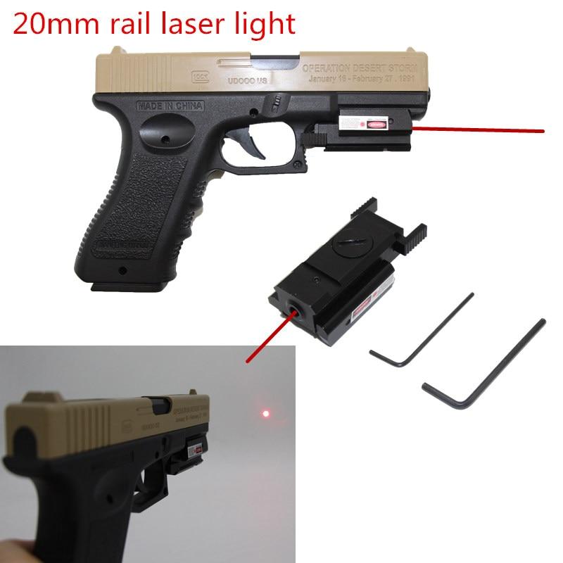Tactical Red Dot Laser Sight for glock 17 19 colt1911 Beretta M9 sigsauer Pistol Airsoft Gun Sight laser Scope 20mm rail laser-0