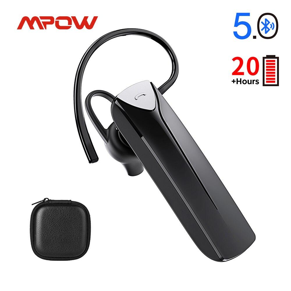 Mpow EM19 Bluetooth наушник V5.0 Беспроводной наушники с сопротивление разрыву CVC 6,0 Шум микрофон с функцией шумоподавления 20Hrs по громкой связи для со...