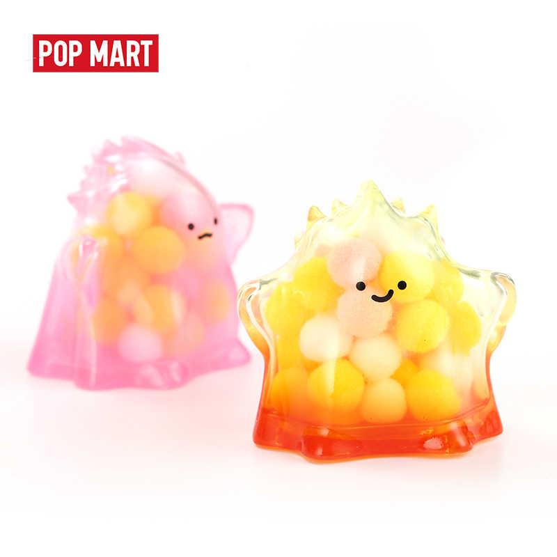 POPMART 1PC 유키 투명한 시리즈 블라인드 박스 인형 이진 액션 피규어 생일 선물 아이 장난감 무료 배송