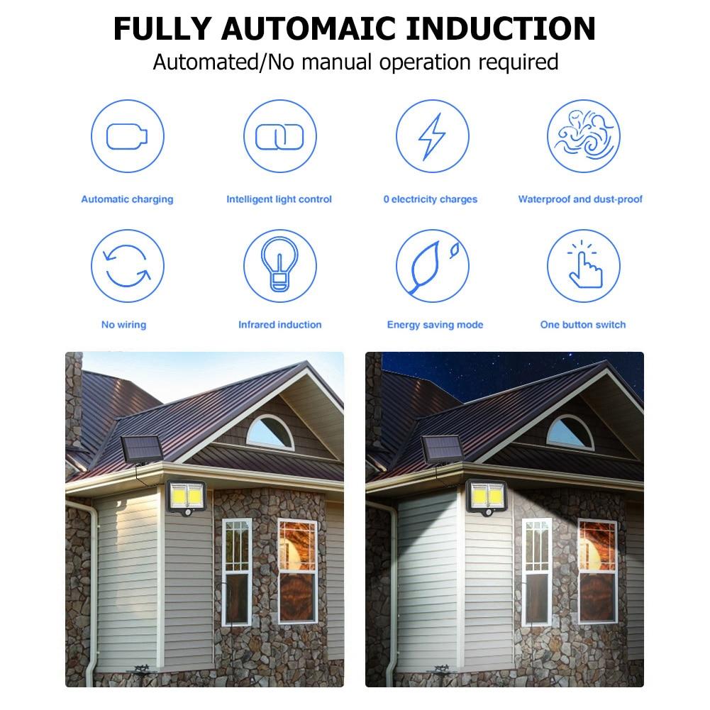 cheapest SHOPLED 90 Led Solar Light Outdoor Solar Lamp Powered IP65 Waterproof Lampara PIR Motion Sensor Garden Decoration Wall Lights