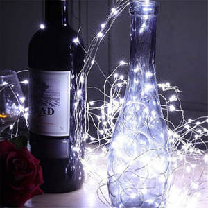Fairy-Lights Led-String Silver-Wire Garlands Button-Battery Party-Decoration Christmas-Tree