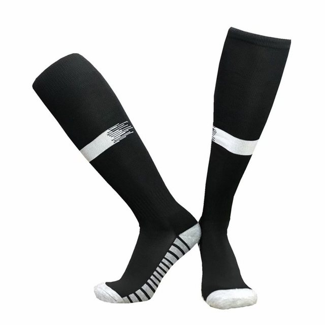 1 Pair Men Women Sports Socks Knee Legging Stockings Breathable Non-slip Bottom Soccer Training Stockings