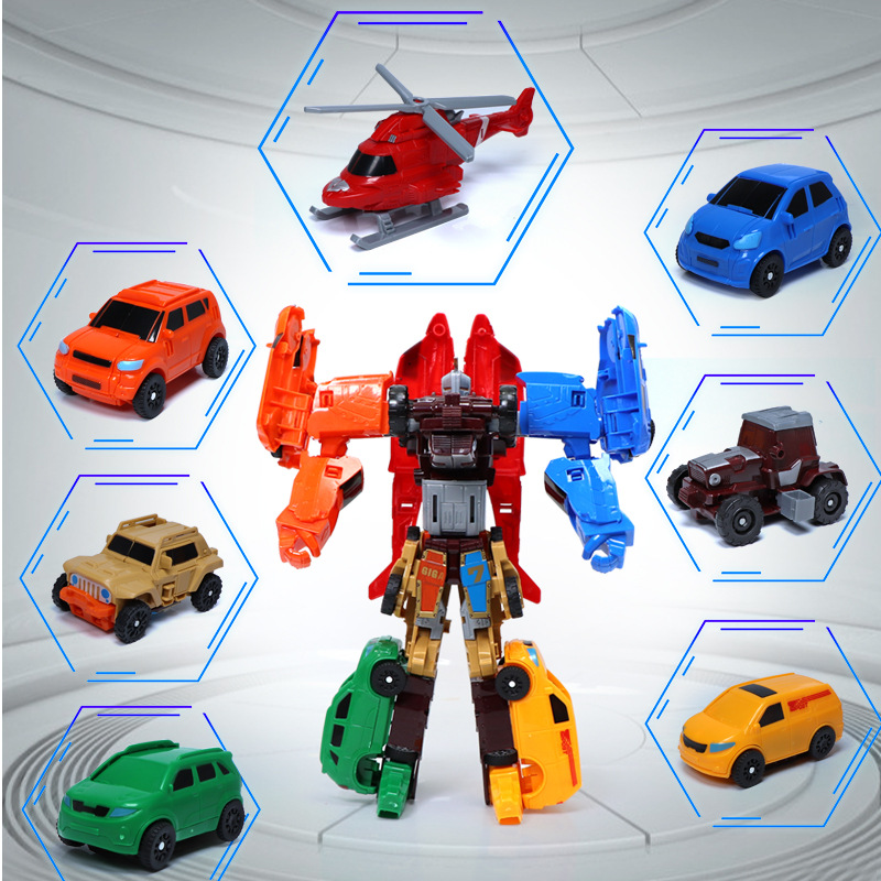 7 In 1 Transformation Tobot Robot Action Figure Toy Car Toys For Children Cartoon Animation Model Set Juguetes
