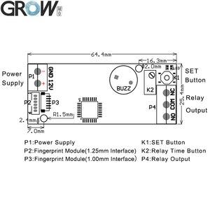 Image 4 - GROW K202+R502 A DC12V Low Power Consumption Fingerprint Access Control Board+R502 A Small Ring LED  Fingerprint Module