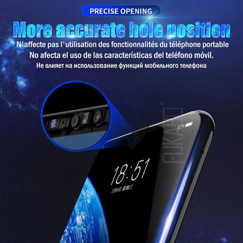 Image 4 - 10D Screen Protector For Samsung Galaxy S10 S9 S8 Plus S10e Note 9 8 Hydrogel For Samsung A7 2018 A5 2017 S7 EDGE soft Film-in Phone Screen Protectors from Cellphones & Telecommunications
