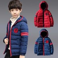 Зимняя куртка для мальчиков детская парка пуховик из хлопка, коллекция 2019 года, зимняя одежда Толстая куртка с капюшоном для детей 3, 4, 5, 6, 7, 8,...