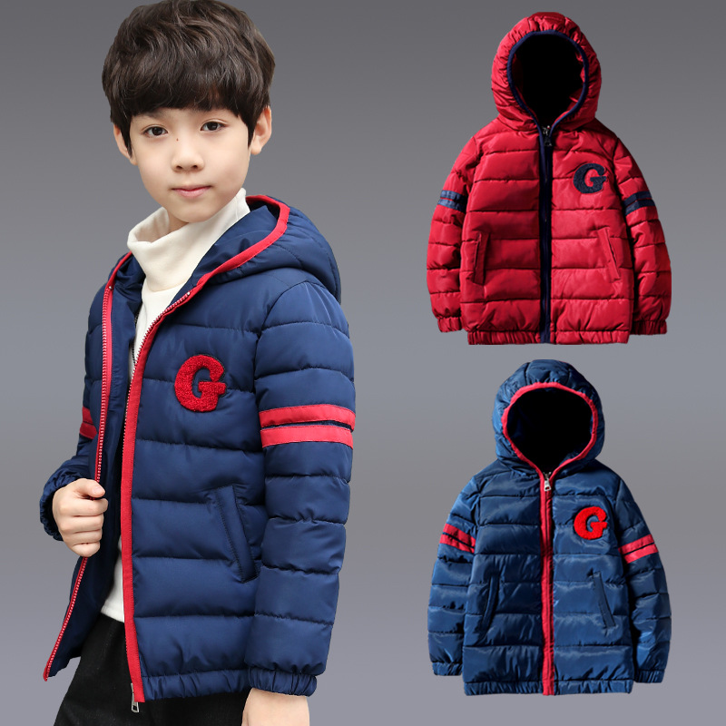Boys Winter Jacket Children Kids   Parka   Down Cotton 2019 Snowsuit Clothes Thick Hooded 3 4 5 6 7 8 9 10 11 12 13 Years