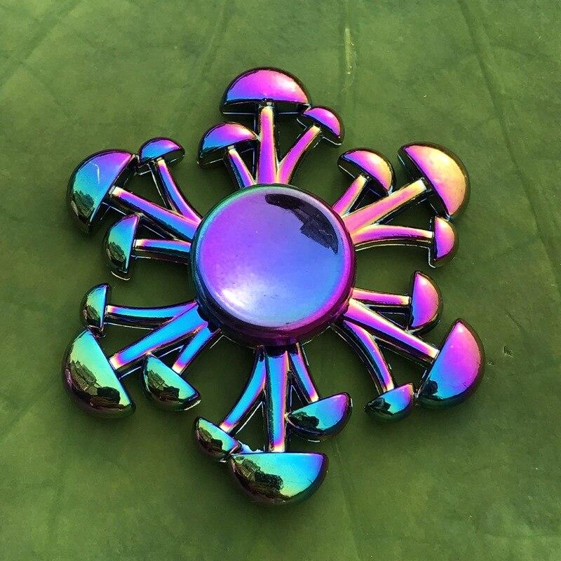 Toy Fidget-Spinner Rainbow R188 Metal Hybrid-Bearing Electroplate Alloy Children Gryo img2