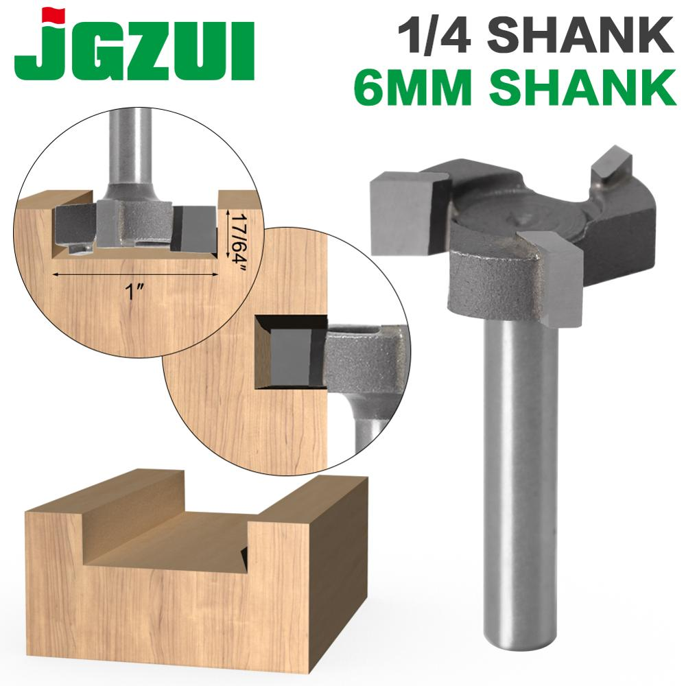 6mm Shank 1/4″shank 3 Teeth T-Slot Router Bit Milling Straight Edge Slotting Milling Cutter Cutting Handle For Wood Woodwork