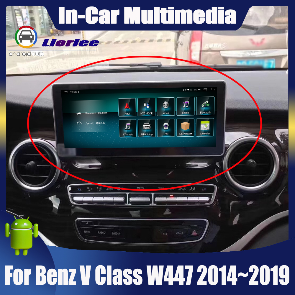 <font><b>Android</b></font> Touch Screen For Mercedes Benz V Class <font><b>W447</b></font> 2014~2019 Car Radio Bluetooth GPS Navigation WiFi Screen image
