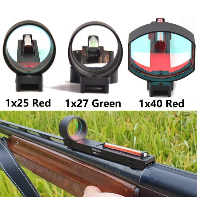 التكتيكية 1x2 5/1x2 7/1x40 الألياف الأحمر/الأخضر نقطة النطاق البصري المجسم البصر صالح بندقية الضلع السكك الحديدية الصيد اطلاق النار