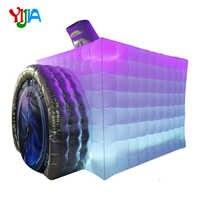 Neue Design Kamera Form Aufblasbare Photo Booth mit LED Streifen Lichter farbwechsel Aufblasbare Zelt für Werbung Party-Event