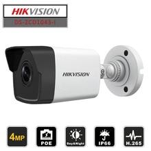 цена на Hikvision Original English Bullet IP Camera DS-2CD1043G0-I 4MP CMOS 1080P Full HD Security Camera Onvif Replace DS-2CD1041-I