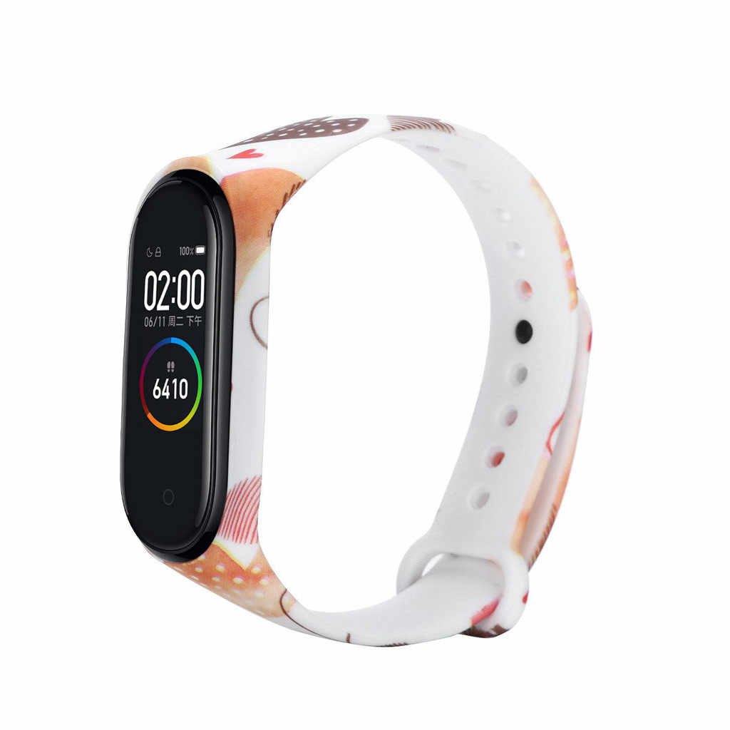 for wearable devices Replacement Silica Gel Wristband Band Strap For Xiaomi Mi Band 4 Bracelet support smartwatch