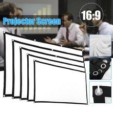 Tela simples ao ar livre dobrável portátil do filme do cinema da casa com gancho tela do beamer da tela do projetor de 60-150 polegadas anti-luz