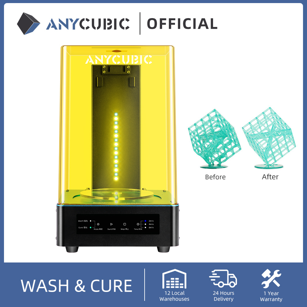 Anycubic Wash And Cure Machine 3D Printer 2-in-1 UV Resin curing for 3d Resin printer cure models impresora 3d