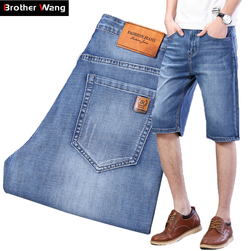 classic style Advanced Stretch short jeans men 2020 summer new high quality blue Denim shorts male Brand clothes