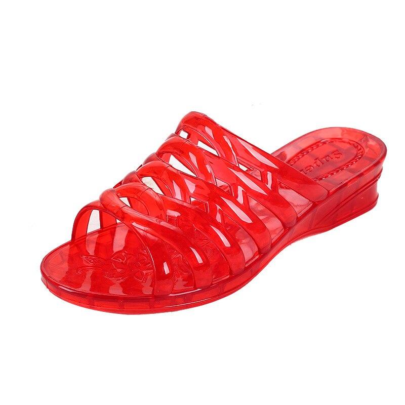 Women's Flip Flop Jelly Shoes Slides Women Summer Slippers Totem  Plastic Slippers Outside Wear Summer Shoes Ladies Flat Slipper 3
