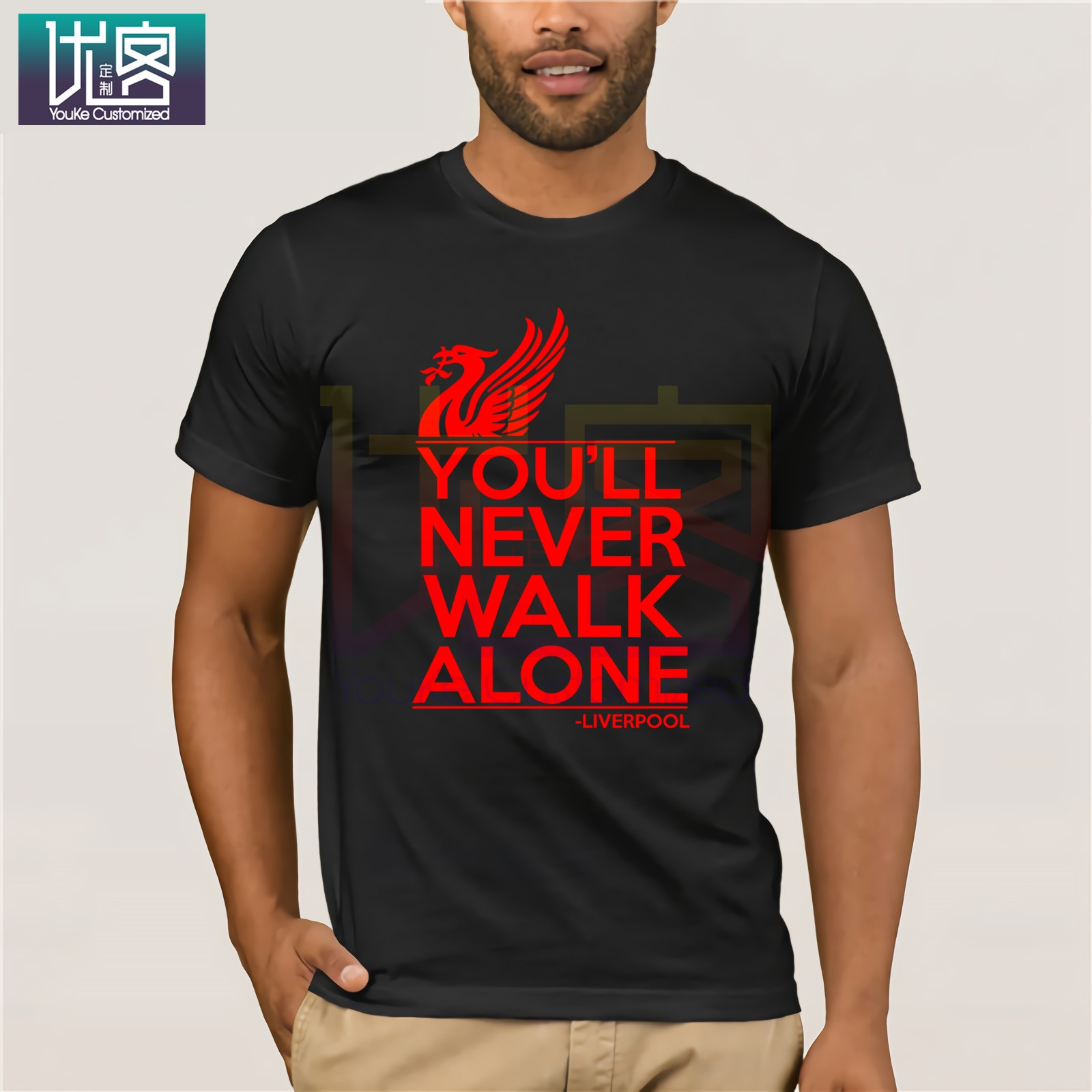 Liverpool T Shirt You'll Never Walk Alone Football Fan Mens Gift TeeMen Women Unisex Fashion T-shirt Free Shipping For Men Tops