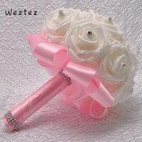 Высокое качество букет Свадебный букет лента с кристаллами Свадебные цветы Букеты цветы аксессуары SPH158