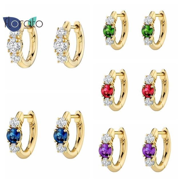 Requintado bonito huggies hoop brincos 925 prata esterlina cz espumante diamante jóias de luxo pequenos brincos para festa feminina 1
