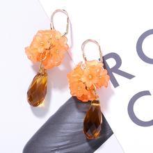 2019 Boho Resin Stars Alloy Glass Dangle Earrings Women Fashion Korea New Statement Drop Jewelry Gifts Party Wholesale