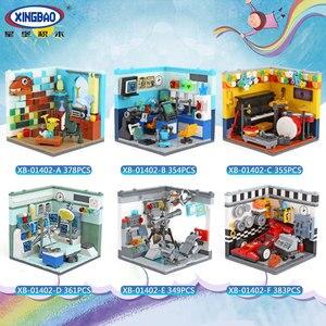 Image 4 - Xingbao 本市友人ハウスシリーズホームファニッシングと将来夢セットビルディングブロック教育レンガ juguetes