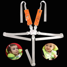 Cartoon 5 Points Safety Belt For Baby Car Dinner Chair Car Seat Length Adjustable Universal Type Quality Fabric Bebe Accessories