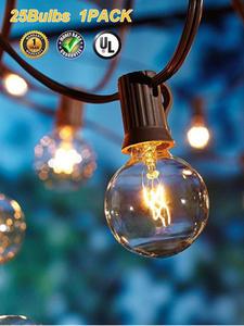 Globe String-Lights Pergola Bulbs-Ul Wedding-Garden Ac with Listed for 50pcs/Lot Deck