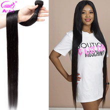 Ariel 28 30 Inch Bundles Silky Straight Brazilian Hair Weave Bundles Thick Hair Extension Remy Human Hair Bundles Hair Weaving(China)