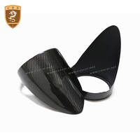 Real Carbon Fiber Rear Light Cover Rear Fog Light Cover For Ferrari 458 Replacement Style