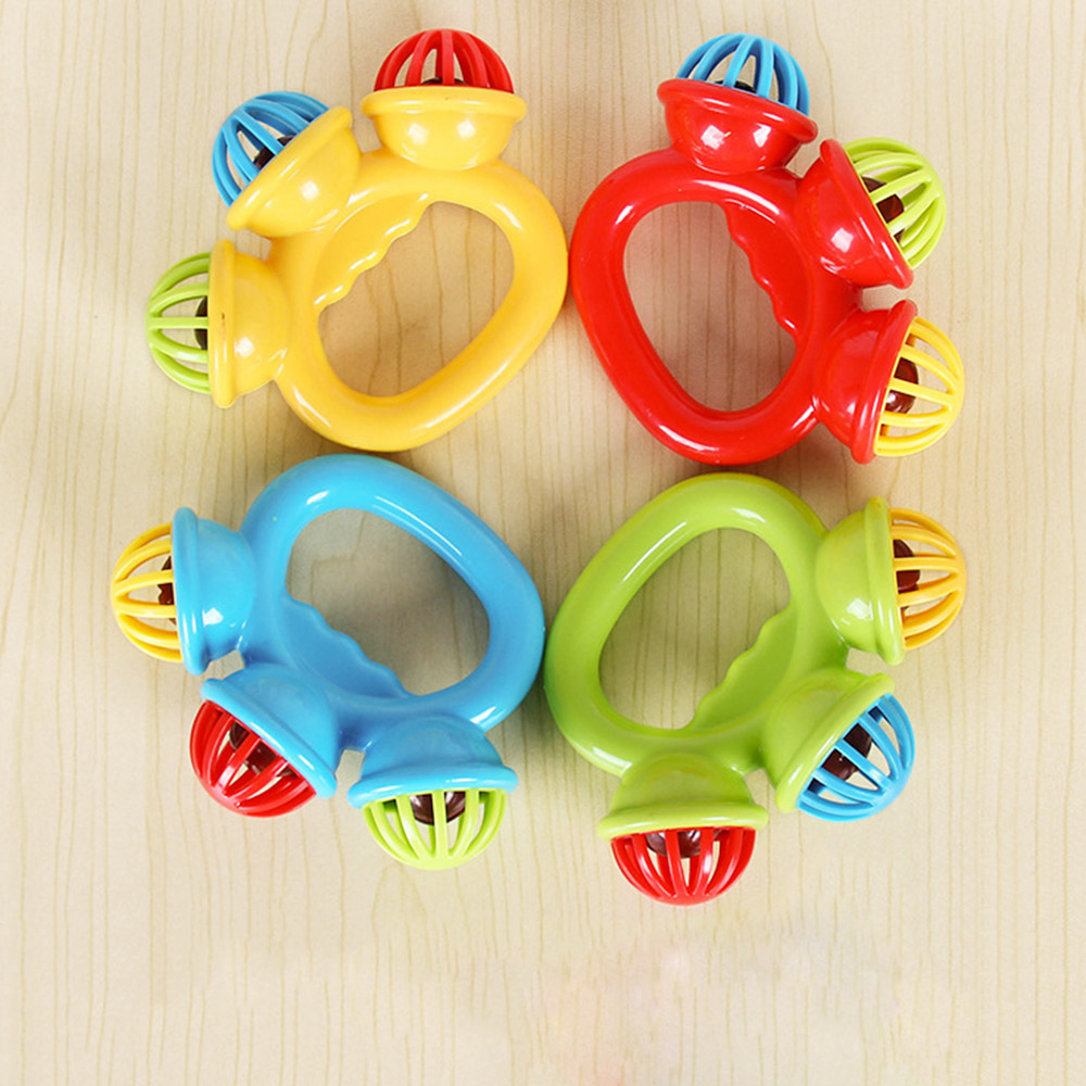 Newborn Cartoon Infant Baby Shake Bell Rattles Newborn Toys Hand Toy Gifts For Children Newborn Baby Educational Toy