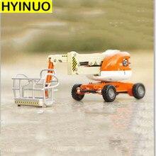 1/87 escala pequena simulação dobrável equilíbrio carro modelo de elevação telescópica trabalho aéreo carro liga diecast engenharia veículo brinquedos