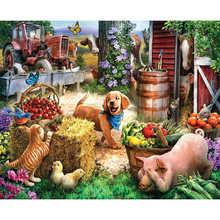 "Картина по номерам рамки Раскраска по номерам домашний декор картины Животное украшение ""Собака"" RSB8389"