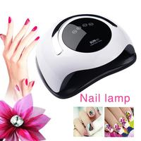 120W intelligent new nail polish phototherapy machine nail polish gel dryer black hand quick drying four file timing nail light