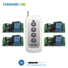 433Mhz Universal Wireless Remote Control Switch AC 110V 220V 1 CH Relay Receiver Module With 6 Channel RF Led Remote Transmitter