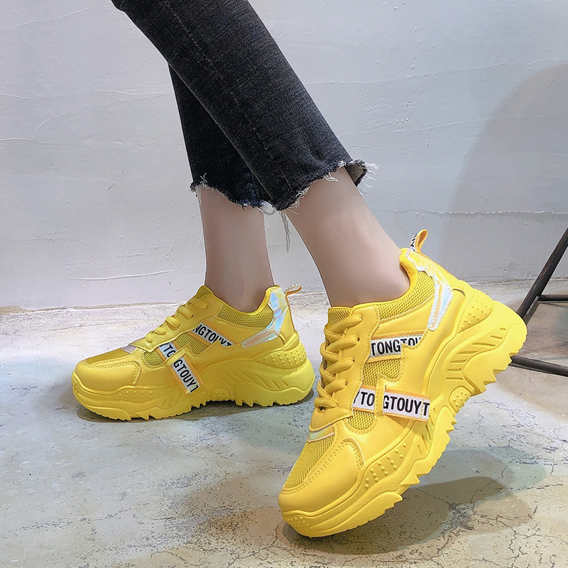 High Quality Dad Sneakers Women Shoes Breathable Outdoor Casual Flat Shoes Women Platform Sneakers Girls Vulcanize Shoes