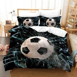 Bedding Set Duvet Cover 3pcs 3D Digital Printing Bedding Set Dropshipping boy gife Football sports queen king