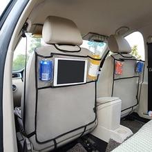Car Back Seat Organizer Car Multi-Pocket Back Seat Storage Bag Organizer Phone Pocket Pouch for Book Tablet Mobile Drinks Tissue