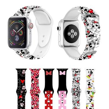 цена на Cartoon Mouse Sport Band For Apple Watch Series 5 4 3 2 1 Wrist Strap for apple watch bands 38mm 42mm 40mm 44mm Case for iwatch